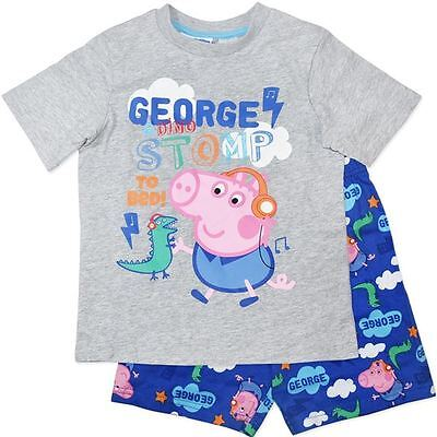 George Pig - Peppa Pig - Boys Summer Pyjamas - Pjs -New In Bag