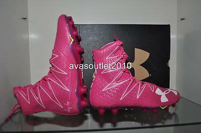 Under Armour Mens Highlight MC BREAST CANCER Power Of Pink Football Cleats NIB