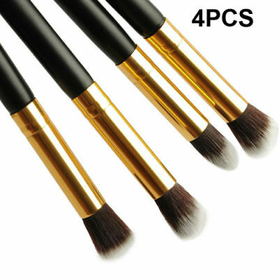 Pro 4PCS Makeup Cosmetic Tool Eyeshadow Eye Shadow Foundation Blending Brush Set