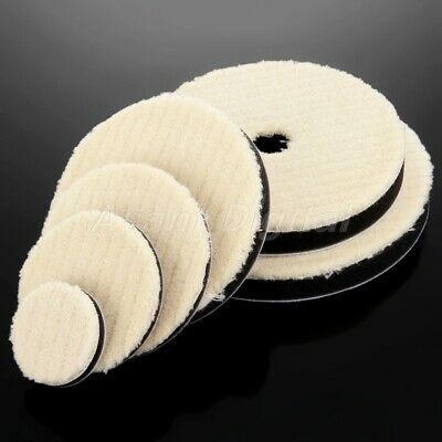 "2 x Car Care Woolen Polishing Pad 2""/3""/4""/5""/5""/7"" Cleaning Waxing Buffing Kit"