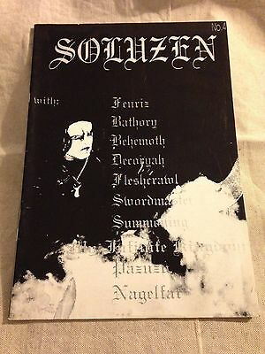 SOLUZEN FANZINE No. 4 - Heavy Metal Zine Black Metal