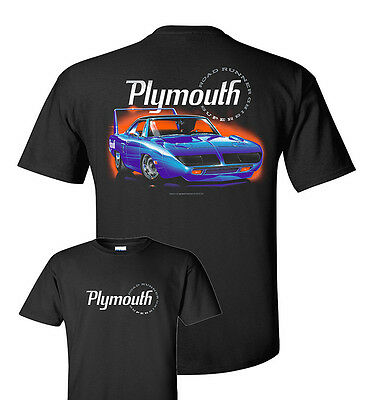 Plymouth Road Runner T-Shirt - Black w/ Blue 1970 Super Bird (Licensed)