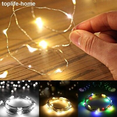 20/30/100 LED Fairy String Lights Battery Powered Christmas Xmas Party Wedding