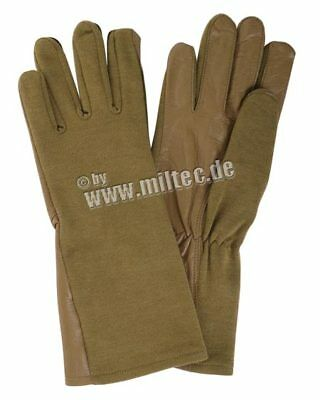 US Army Airforce Nomex Pilotenhandschuhe Coyote Gr 10 /L Feuerfest Rescue Gloves