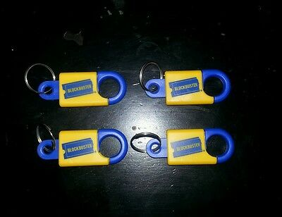 Four Vintage Blockbuster Video Promo Keychain