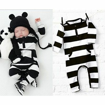Kids Romper Toddler Baby Boy Girl Jumpsuit Bodysuit Clothes Outfit 0-3 Year New