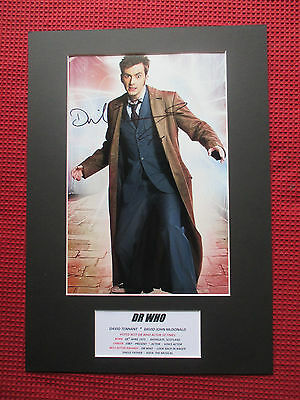 Dr Who Actor David Tennant Genuine Hand Signed A3 Mounted Photo Display - Coa