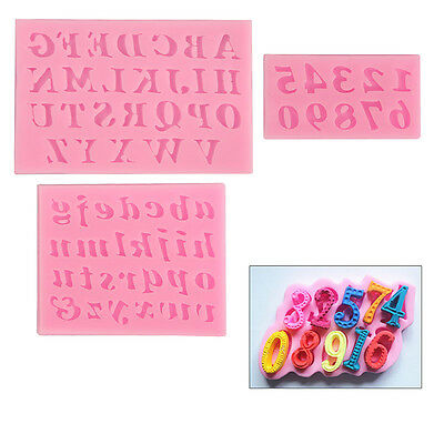 3PCS Alphabet Letter Icing Cookie Cutter Mould Cake Decorating Mold Sugarcraft