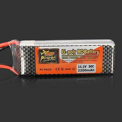 ZOP Power 11.1V 2200MAH 30C Lipo Battery XT60 Plug for RC Helicopter Quadcopter