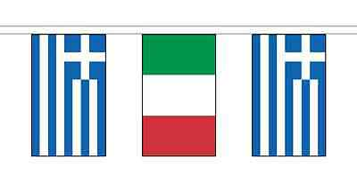 Greece Friendship 14 Flag 5m Knitted Polyester Diplomatic Bunting
