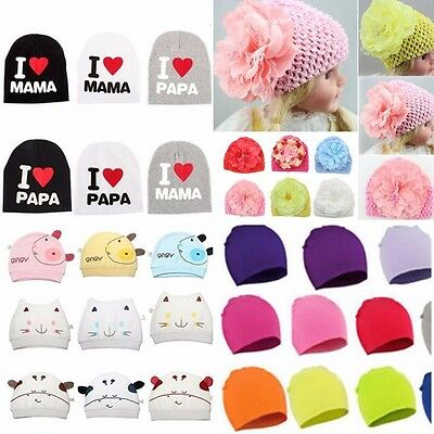 Baby Cotton Beanie Hat Girl Boy Toddler Infant Kids Snuggle Knitted Cap Gift