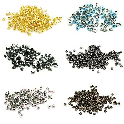 100 x 3mm Metal Eyelets Grommets Clothing Banner Leather Art Crafts Set