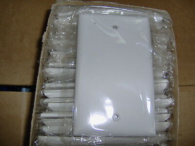Blank Plastic Electric Box Wall Cover Plate 1 Gang White, Cooper