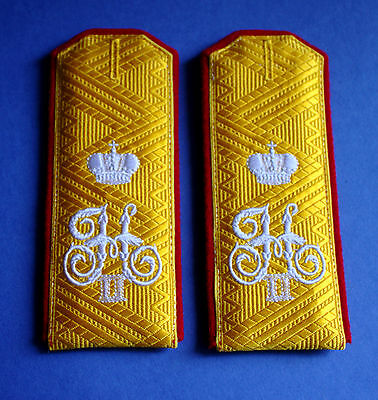Russian Imperial army General Shoulder Strap Boards WWI Epaulettes Insignia Copy