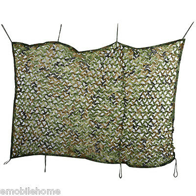 Woodland Military Army Hunting Camping Tent Car Cover Oxford Camouflage Net