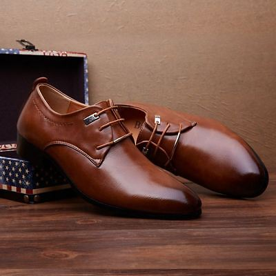 Luxury Handmade Mens Leather Dress Formal Brown Shoes Loafers Business Casual