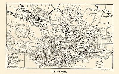 Antique Map, Scotland, Dundee, Map Of Dundee 1890
