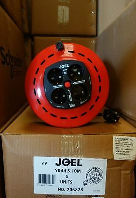 6 x JO-EL 4 Way 10m Cassette Extension Reels JOB LOT BULK EU PLUG Kabeltrommeln
