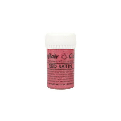 Sugarflair SATIN RED Concentrated Food Icing Colouring Edible Paste Gel