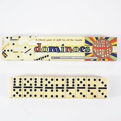 Dominoes House of Marbles High Quality Traditional Double Sixes Tile Game Boxed