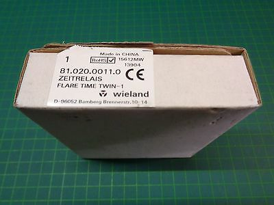 1 x Wieland Electric Zeitrelais flare TIME TWIN-1; 81.020.0011.0; Neu & OVP