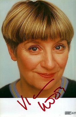 Victoria Wood Autograph Hand Signed Photo Preprint Glossy Portrait Picture