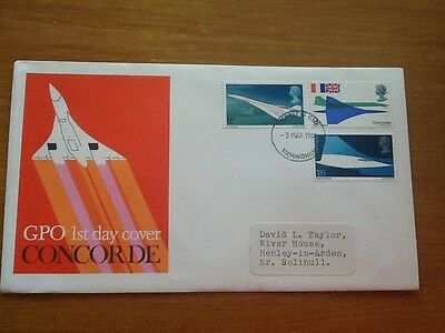 GPO CONCORDE 1st Day Cover   3 March 1969