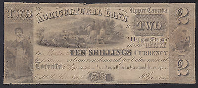 1835 Agricultural Bank of Upper Canada $2