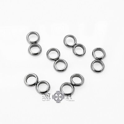 25 x Stainless Steel Double Loop Connectors / Clasp Eyes