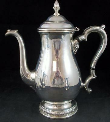 "International Sterling PRELUDE PLAIN Coffee Pot ""12401"" GREAT CONDITION"