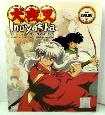 Inuyasha - Complete Tv Series Dvd Box Set 1-167 Episodes (English Audio)