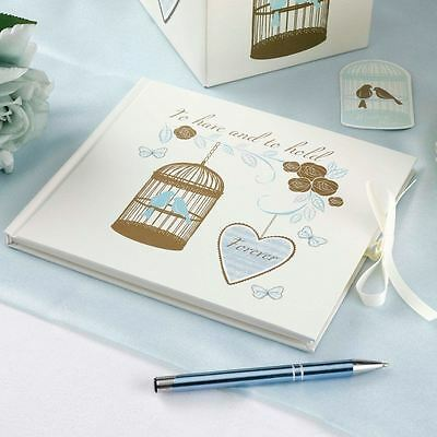 To have and to hold guest book wedding bird cage forever hearts 1 per pack