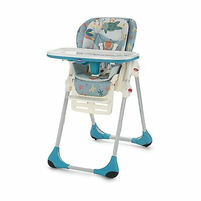Silla alta Trona Silla-Papilla Chicco Polly 2 en 1 80 Sea Dreams