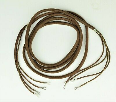 Subset Cord - 4 Conductor - Cloth Covered - Brown - SKU - 30003