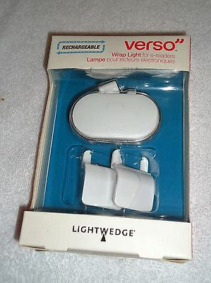 New Lightwedge Verso Rechargeable Wrap Light For E-Readers White