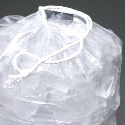 8 lb. Heavy Plastic Ice Bags with Drawstrings Case:500