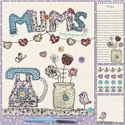 Mums Fabric Household Wall Planner 2017