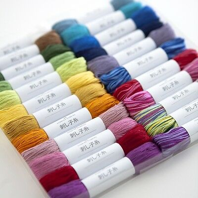 JAPAN Hand Craft SASHIKO Embroidery Cotton Thread 85m HOBBYRA HOBBYRE F/S