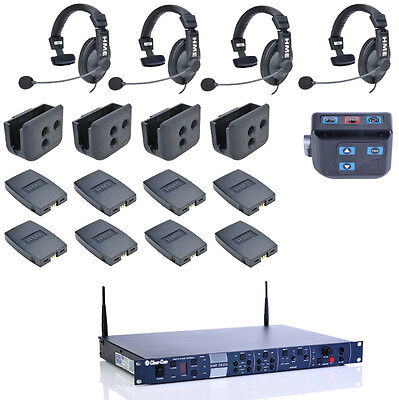 Clear-Com CZ11513 4-up HME DX210 System w/ HS15 Headsets