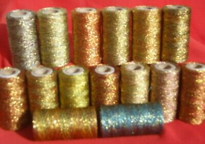 30 Metallic Thread Spools,30 different Colour, 300 YARDS EACH