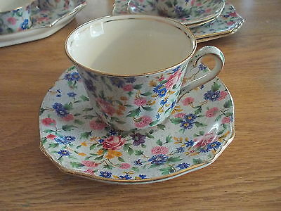 Vintage ROYAL WINTON Grimwades Flat Cup & Saucer - Old Country Chintz
