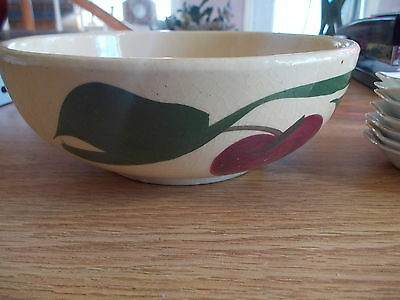 Watt Pottery Apple Cereal Bowl #74 Vintage