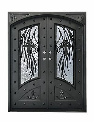 """Stunning, Hand-Crafted, 12-Gauge Wrought Iron Entry Doors 72"""" x 96"""""""