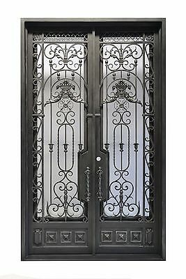"72"" x 96"" Stunning, Hand-Crafted, 12-Gauge Wrought Iron Entry Doors $3485"