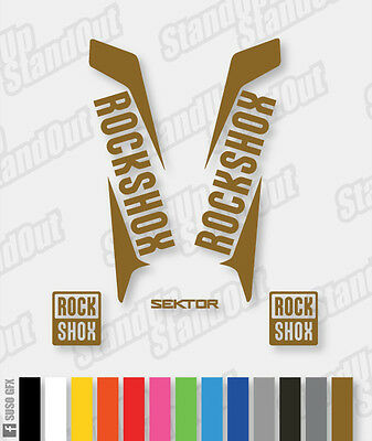 RockShox Sektor 2015 2016 Style Decals Stickers - Custom / Fluorescent Colours