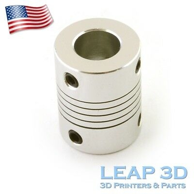 Flexible Shaft Coupler 5mm To 10mm for CNc Routers Reprap  Prusa 3D printers