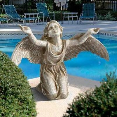 "Design Toscano ""Heavens Devotion"" Angel Garden Statue Ornament"