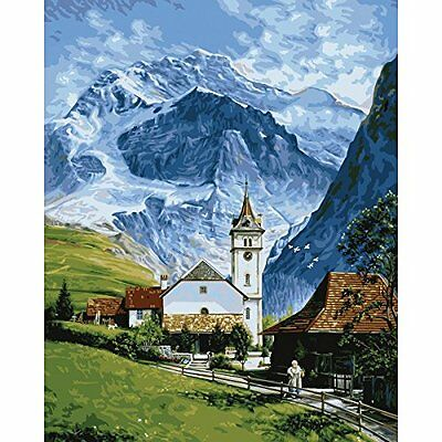 """Plaid: Craft, Kit Paint By Number 16 """"x 20 cm, Grindelwald"""