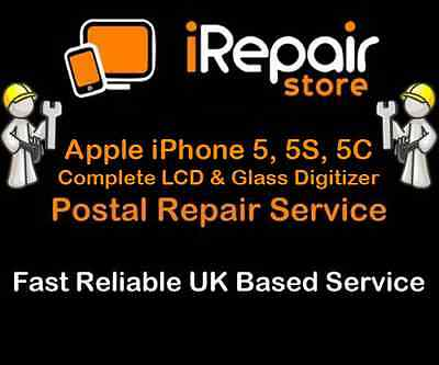 Apple iPhone 5 5S 5C LCD Display Glass Screen Digitizer Complete Repair Service