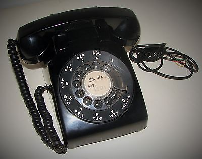 Vintage Western Electric Bell Systems Rotary Desk Telephone Black 500